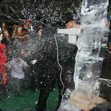 Ice Sculpting in Canary Wharf (London) 2011.01.13-16.